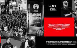 Coca Cola lance le vote pour les Gaming Awards de 2017